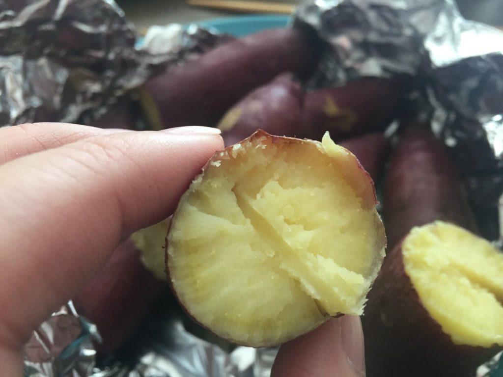 焼き芋の完成
